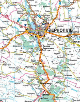 Авто 1:250 000 Тернопільська обл Карта автошляхів Авто Тернопільська, фото 2
