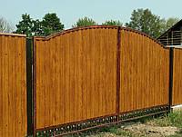 Ворота профнастил (золотистый дуб) 5300