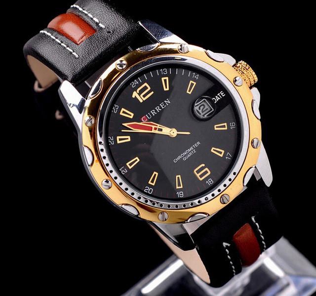 3f8c8d3ed77e Мужские Часы Curren 8104 Gold Black — в Категории