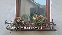 """Кованый цветочник на окно """"Лира"""", фото 1"""