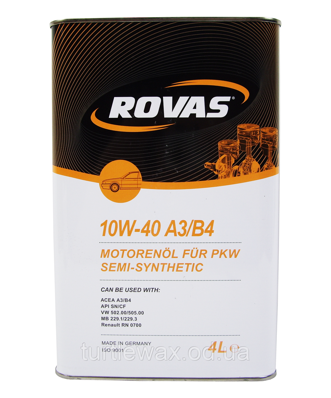 Масло моторное ROVAS Semi-Synthetic 10W-40 4л