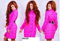 Пальто +на синтепоне женское. Пальто бантик 590  (29) , фото 1