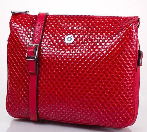 Оригинальная женская кожаная мини-сумка KARYA (КАРИЯ) SHI521-1KAP (красный)