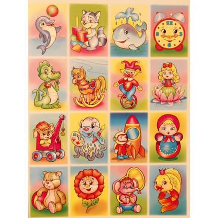 Глорія Розмальовка Картинки невидимки з наліпками Іграшки, фото 2