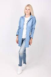Стильная женская джинсовая накидка