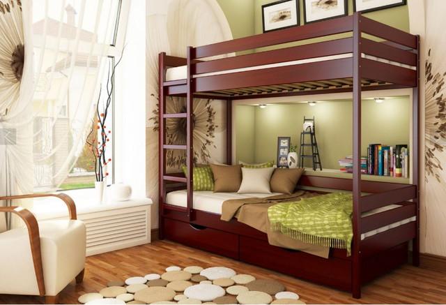 Кровать двухъярусная Дуэт тм Эстелла цвет №104 Красное дерево