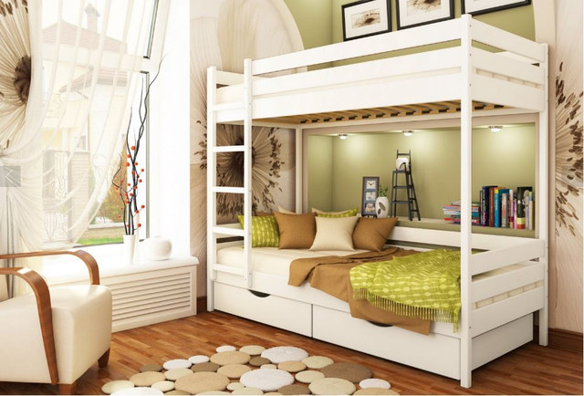 Кровать двухъярусная Дуэт тм Эстелла цвет №107 Белый Акрил