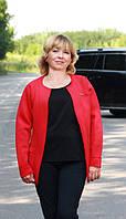 Эффектный женский кардиган красного цвета