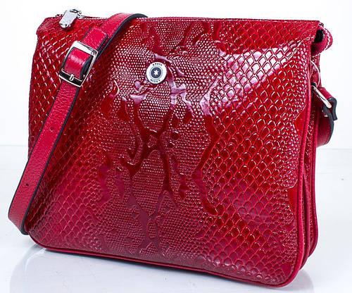 Стильная женская кожаная мини-сумка KARYA (КАРИЯ) SHI521-1LAK  (красный)