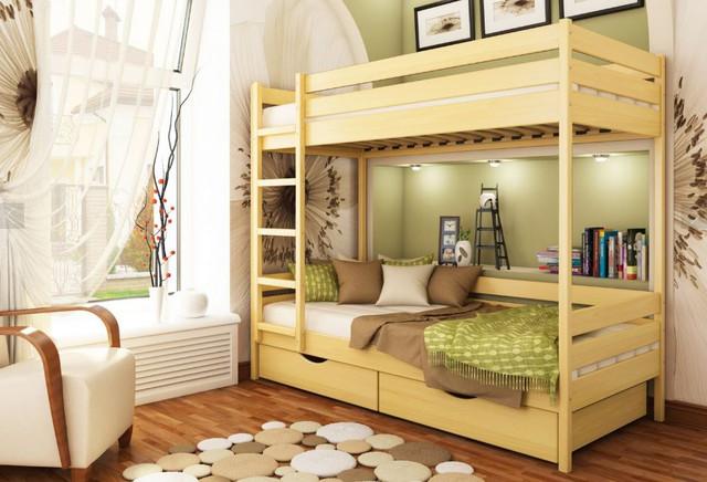 Кровать двухъярусная Дуэт тм Эстелла цвет №102 Бук натуральный (Бук Щит)