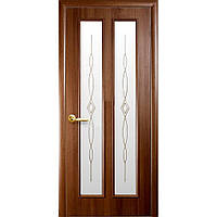 """Дверь межкомнатная """"Стелла"""" Золотая ольха - витраж (Новый стиль)"""