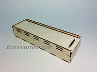 Деревянный пенал, коробочка для ручек и карандашей