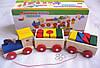 Развивающая игра Деревянный паровозик с кубиками