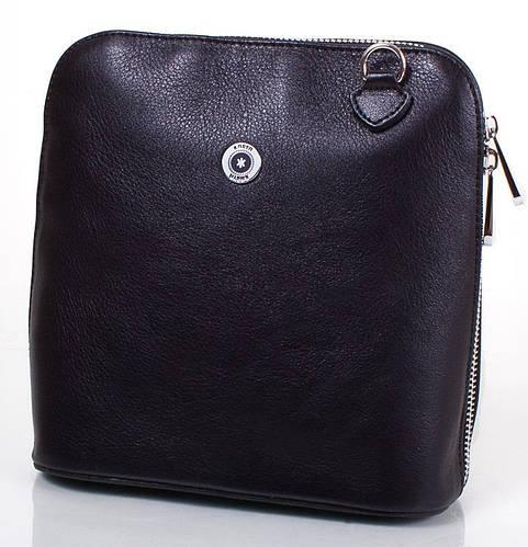 Женская кожаная сумка-клатч через плечо KARYA (КАРИЯ) SHI559-2FL  (черный)