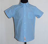 Рубашка для мальчика подростка с коротким рукавом