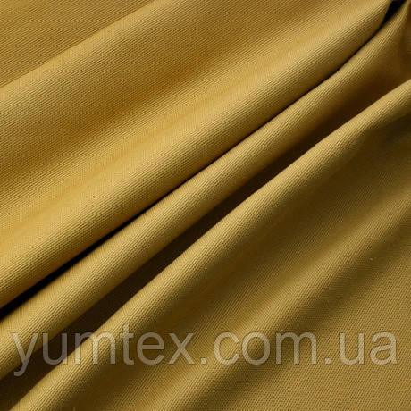 Однотонная ткань панама Песко, 60 % хлопок, цвет горчичный