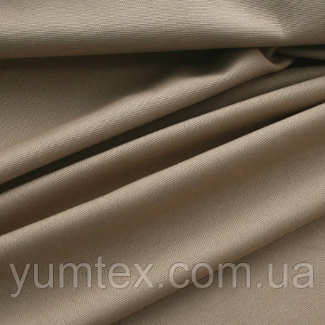 Однотонная ткань панама Песко, 60 % хлопок, цвет беж+золото