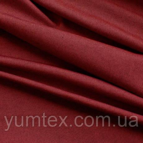 Однотонная ткань панама Песко меланж, 60 % хлопок, цвет красный+черный
