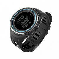 Спортивные часы FR801B - водозащита 5АТМ, шагомер, калории, термометр, барометр, альтиметр, компас. Синий