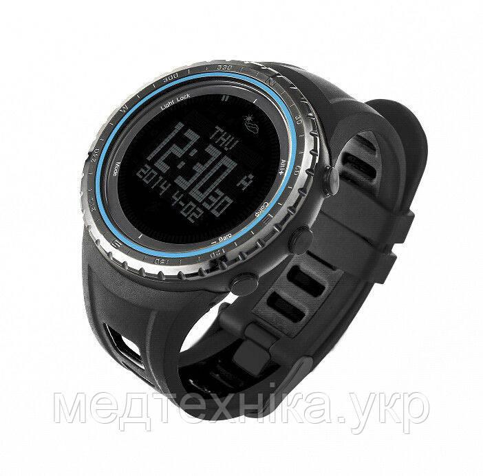 Спортивные часы FR801B - водозащита 5АТМ, шагомер, калории, термометр, барометр, альтиметр, компас. Синий, фото 1
