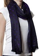 Палантин в горошек фиолетовый (81001)