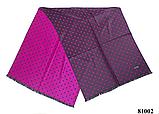 Женский палантин шарф на плечи и шею стильный модный в горошек светло-фиолетовый кашемировый, фото 2