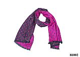 Женский палантин шарф на плечи и шею стильный модный в горошек светло-фиолетовый кашемировый, фото 3