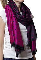 Палантин в горошек светло-фиолетовый (81002), фото 1