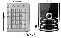 Почему отличается расположение цифр на телефоне и калькуляторе?