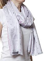Палантин в горошек нежный розовый (81007), фото 1