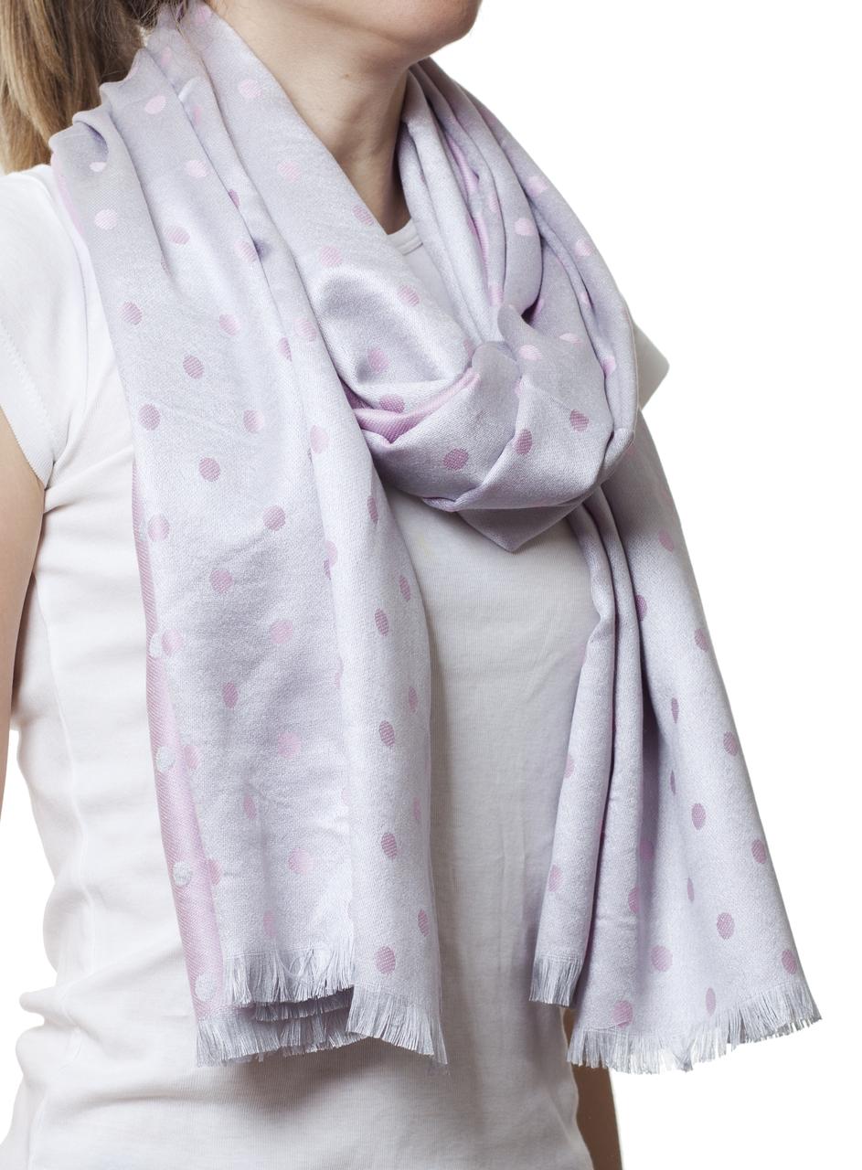 Палантин в горошек нежный розовый (81007) - Fashion Accessories в Хмельницком