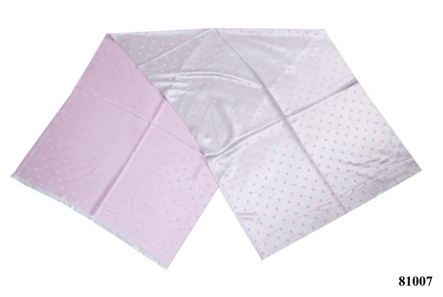 Палантин в горошек розовый (81007) 2
