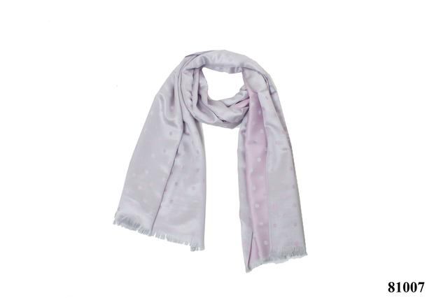 Палантин в горошек розовый (81007) 3