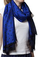 Палантин в горошек синий (81009), фото 1