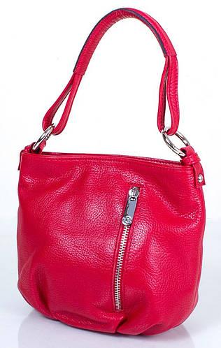 Яркая женская кожаная мини-сумка KARYA (КАРИЯ) SHI0689-1FL  (красный)
