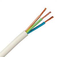 Медный Провод электрический круглый ПВС 3х1,5 для электро сети приборов и агрегатов