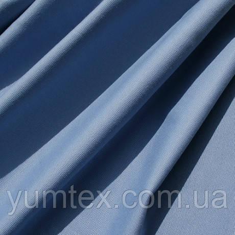 Однотонная ткань панама Песко, 60 % хлопок, цвет сиренево-голубой