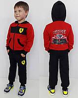 Детский спортивный костюм Ferrari  Красно-черный.