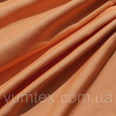 Однотонная ткань панама Песко меланж, 60 % хлопок, цвет желтый+оранжевый