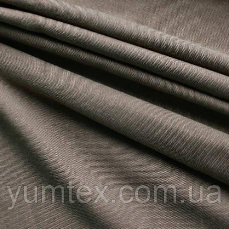 Однотонная ткань панама Песко, 60 % хлопок, цвет коричнево-бежевый
