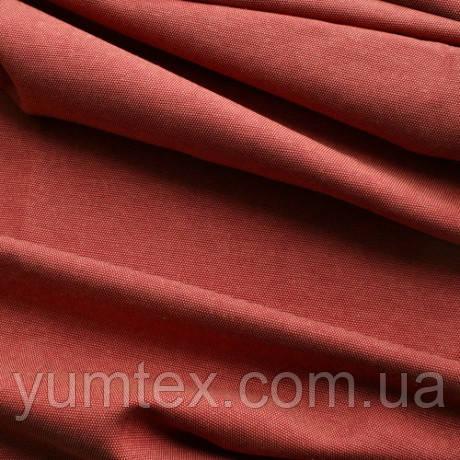 Однотонная ткань панама Песко меланж, 60 % хлопок, цвет терракот+бордо