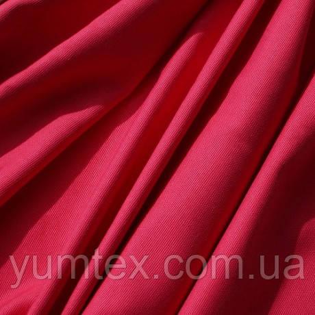 Однотонная ткань панама Песко, 60 % хлопок, цвет ярко-розовый