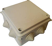 Коробки монтажные для наружной (открытой) установки 100х100х70мм IP54 с 8-мью гермовводами (кратно 10шт)