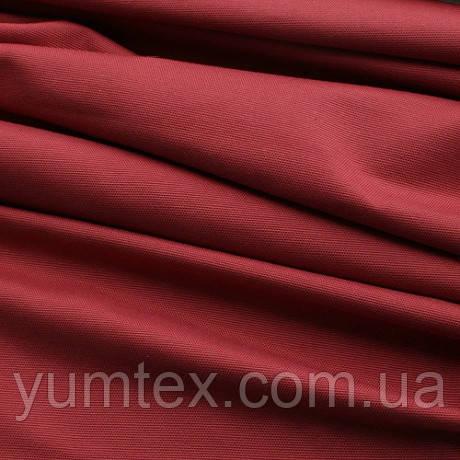 Однотонная ткань панама Песко, 60 % хлопок, цвет лесная ягода