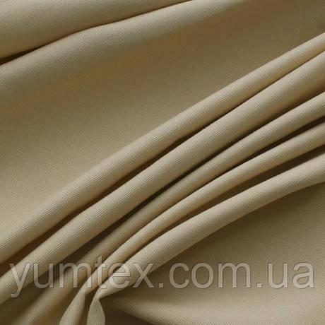 Однотонная ткань панама Песко, 60 % хлопок, цвет светлый беж