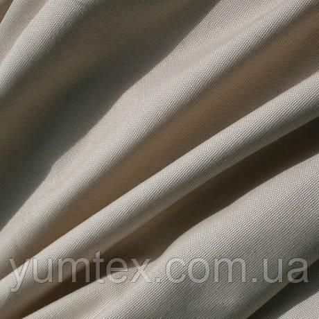 Однотонная ткань панама Песко меланж, 60 % хлопок, цвет бежевый+молочный