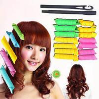 Бигуди для завивки волос magic leverag circle hair styling roller curler (14 шт.) – салон красоты у вас дома
