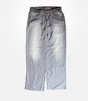 Джинсы женские летние Louis большие размеры серые