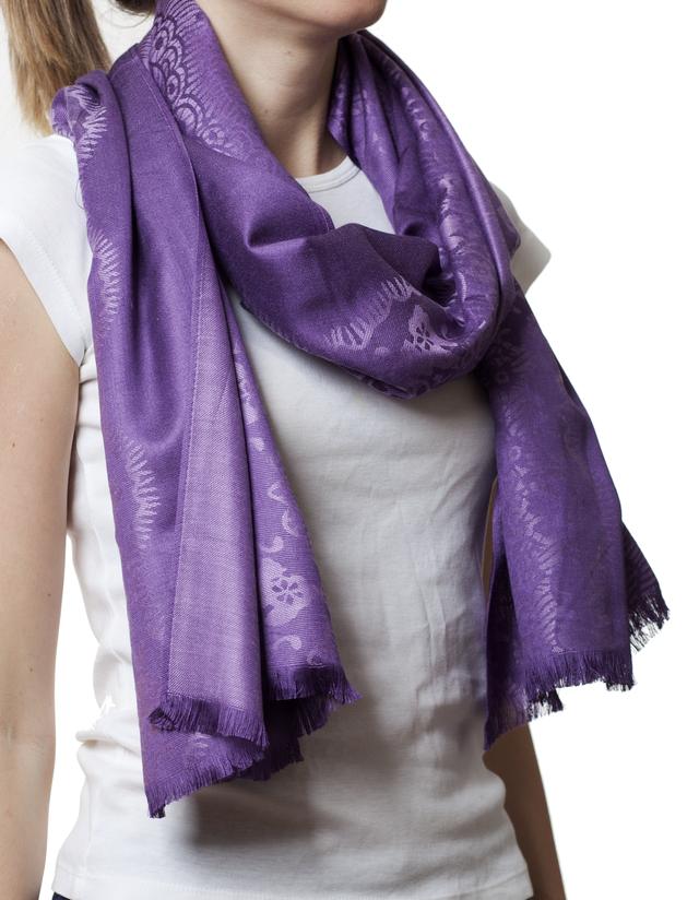 Палантин с узором пурпурный (83001) 1