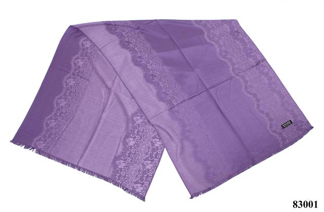 Палантин с узором пурпурный (83001) 2
